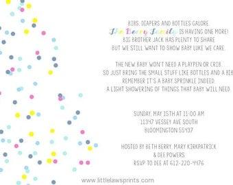 Confetti Baby Sprinkle Invitations