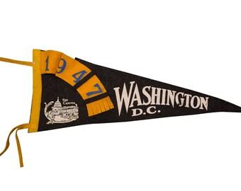DISCOUNTED 1947 Washington DC Felt Flag