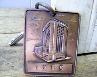 Vintage Hyatt Regency Nashville Tennessee Hotel Room Key and Fob
