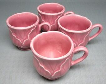 Metlox LOTUS pink demitasse cup , a set of four , no saucers