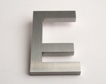 Modern House Numbers Aluminum Modern Font Letter E