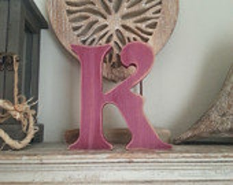 Hand-painted Wooden Letter, K - Freestanding - Victorian Font - Various sizes, finishes and colours - 30cm