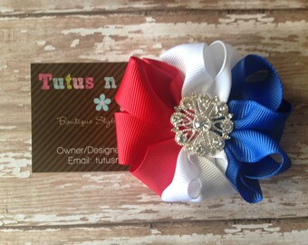 4th of July Hair Bow
