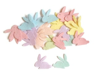 Felt rabbit easter bunny die cut felt shapes pre cut felt animal arts and crafts easter