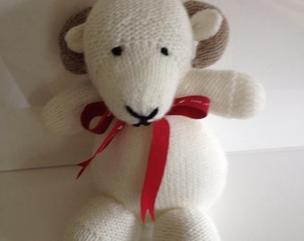 Hand Knitted  Soft Toy Ram