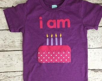 i'm this many shirt, Children's birthday shirt, girl's birthday shirt, birthday cake shirt, birthday decor, birthday invite, first birthday