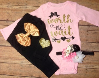 baby girl coming home outfit, baby girl outfit, take home outfit, baby girl clothes, hospital outfit, newborn girl outfit, going home outfit