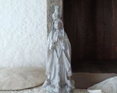OUR LADY Of FATIMA Madonna x-small Statue Jeanne D Arc Living French Nordic Shabby Chic Quiet Living