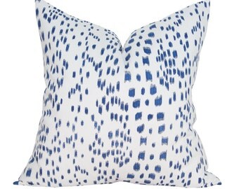 Brunschwig & Fils Les Touches pillow cover in Blue