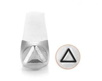 6mm Triangle Metal Stamp, ImpressArt Shape & Pattern Design Stamp, Impress Art Stamps, DIY Jewelry Making Metal Stamping Tools, Supplies