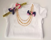 Necklace Onesie and Matching Headband