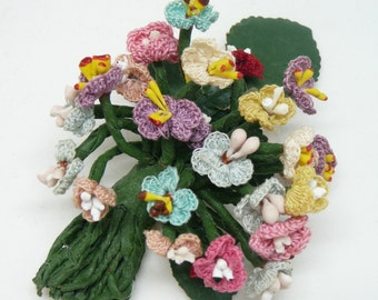 Vintage Handcrafted Crocheted Flower Corsage