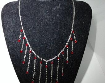 Boho Dangle Red Necklace