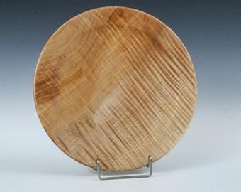 Handturned Wood Platter - Quilted Maple
