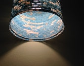 SALE - 20% Off - Chandelier Pendant Light Lighting Turquoise Lampshade Lampada Coffee Filter Art