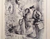 Love, Victoria and Albert - 1845 Original from Magazine