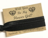 Will you be my Flower Girl Gift - Hair Tie Flower Girl Gift - Hair Tie Favor - Flower Girl Proposal - Hair Tie Gift