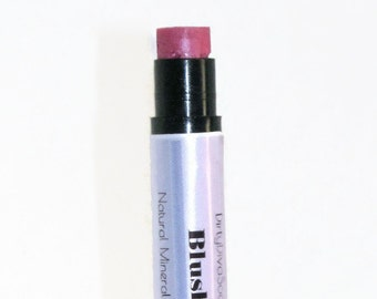 Natural Mineral Lipstick ,Blush, Matte Lip  Color with a Hint of Shine In a Conditioning Lip Balm
