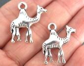 6pcs-Silver Camel charm-Antique silver metal Charm pendant beads