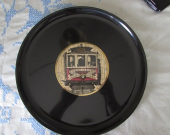 San Francisco Street Car Couroc Serving Tray - California - San Francisco - Street Car - Van Ness Ave Market Streets