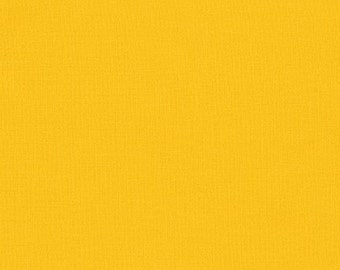 1/2 yard LAMINATED cotton fabric (similar to oilcloth) 18 x 40 - Solid corn yellow - Approved for children's products - BPA free - Kaufman