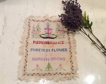 Vintage Cross- Stitch Verse  Sampler for Framing, Gifts For Your Home, Wall Decor