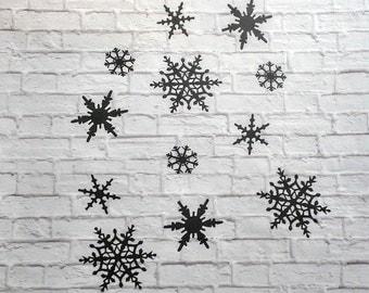 Snowflakes Vinyl Wall Decal Set of 12