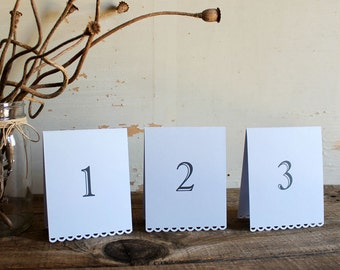 set of 10 lavender tented table number cards for wedding, shower, party - tallulah