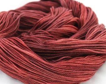 Hand dyed Yarn - Superwash Merino - Sock Yarn - Red Yarn - Mahogany Violet - Fingering Weight - 2-ply - 100g - 400 yards - BURNISHED