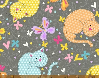 The Cat's Meow - Resting Cats by Whistler Studios from Windham Fabrics