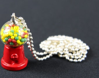 Gumball machine chain necklace of Miniblings 80 cm bubble gum machine machine candy