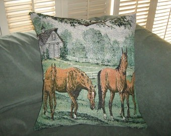 HORSES TAPESTRY  Pillow Cover