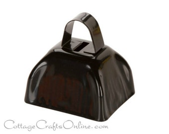 "SALE! Halloween Cow Bell,  2.8"" x 3"" Black Jingle Bell - Darice Craft,  Craft Supply, Decor, Embellishment, Sleigh Bell"
