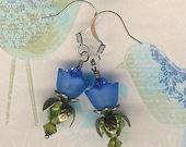 Blue Flowers, Make Your Own Earrings Kit, DIY Earring Kit, Do It Yourself Jewelry, Bead Kit, Beginner Kit, Beaders Gift, Jewelry Maker Kit