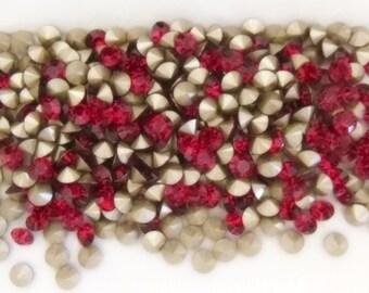 6  Ruby Crystal Swarovski Xilion 1028 29ss / 6mm F Chatons