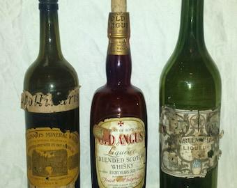 Antique Rare Liquor and Liqueur Bottles (3)