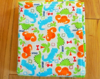 Baby/Toddler Blanket -  Wacky Dinos