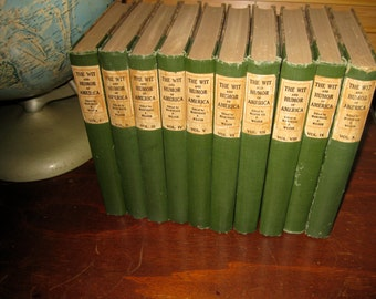 The Wit And Humor Of America 10 Volume Set Antique Library Decor