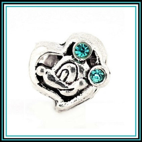 Disney Mickey Mouse W Pink Or Blue Cz Dual Sided