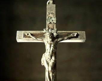 Crucifix, Silver plate crucifix, Nun's crucifix, small cross