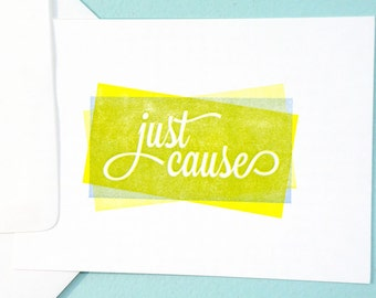 just cause 2 color letterpress stationary