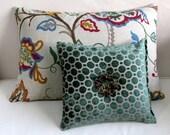 emerald velvet lumbar accent toss bolster pillow 13x13