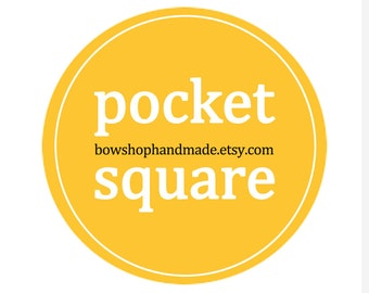 Pocket square - select size - boys or adults