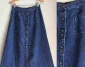 Denim midi skirt size small - CLEARANCE!