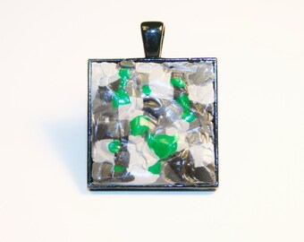 CLEARANCE: Minecraft Necklace, Emerald Ore  Style 2