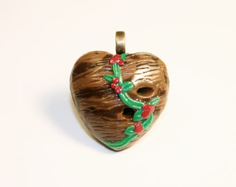 Mori Girl in The Enchanted Forest Heart Necklace