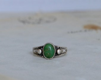 Fred Harvey Style Vintage Ring - Size 5.5