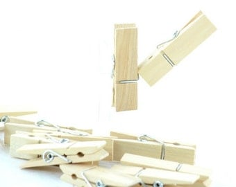 Natural Wooden Clothespin 12 pcs.