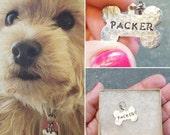 Mini Dog ID Name Tag - Dog Tag - Personalized Dog ID Tag - Custom Engraved Dog Tag - Dog Name Tags - Unique Pet ID Tag - Dog Bone Name Tag