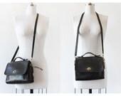 Vintage Coach Bag /Bonnie Cashin Purse / Coach Court Bag / Vintage Coach Black Leather Purse